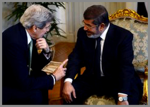 Mr Kerry kow-towing to the Muslim Brotherhood in Egypt