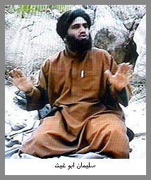 Mr. Abu Ghaith appeared in al Qaeda videos condemning the U.S. air strikes on Afghanistan, saying al Qaeda would retaliate against the U.S. and Britain.