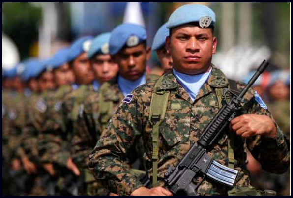 "The infamous ""blue helmets"" would be more appropriately referred to as international war-making troops"