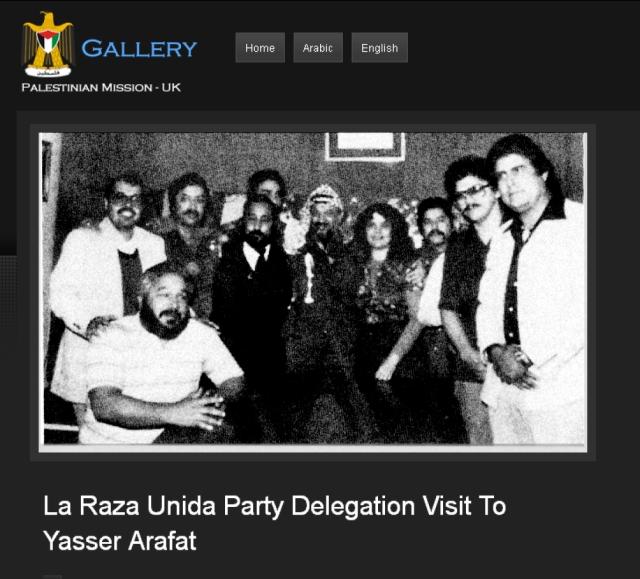 La Raza Execs. With their Mentor Yasir Arafat in Lebanon
