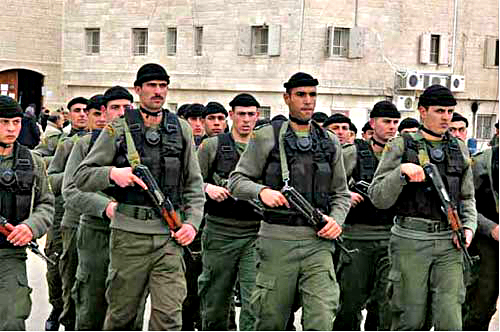 US-trained Palestinian Security Force under General Dayton
