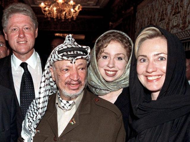 Clintons and Arafat