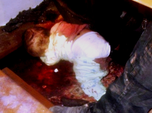 Christian baby killed during Islamic raid on Our Lady of Salvation Church, Baghdad, 2010