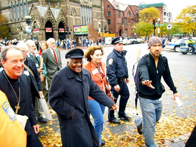 Tutu marches against Israel w/ Sabeel terror supporters