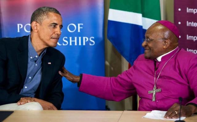 Anti-Semite Desmond Tutu with Soul-Mate