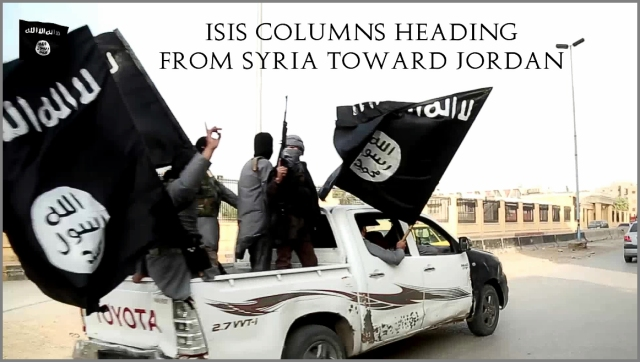 ISIS Column Going to Jordan