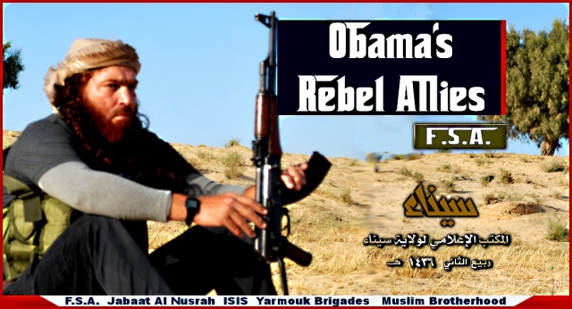 "The U.S. Backed ""Rebels"" are not ""Freedom Fighters"" they are genocidal Islamic terrorists!."