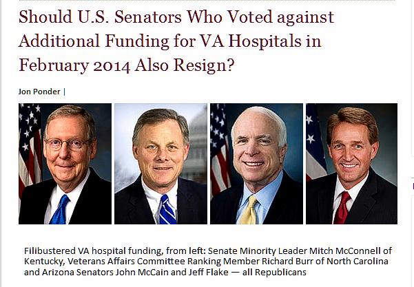 Senators against Veterans