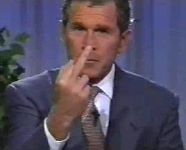 Jorge Bush says F@ck you America!