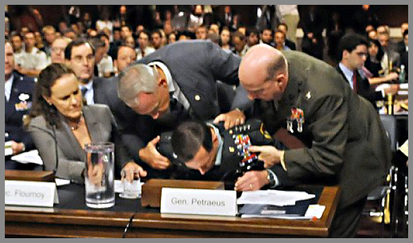 Petraeous fainting at congressional hearings