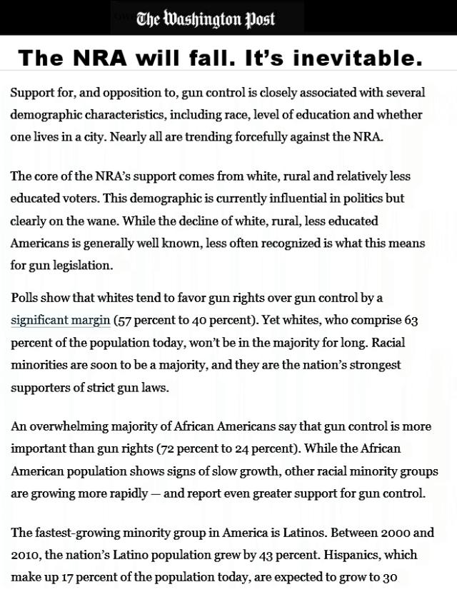 Less white less guns- Prnt