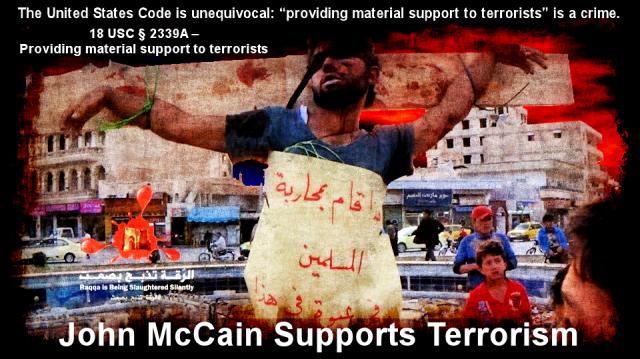 John McCain Supports Terrorism