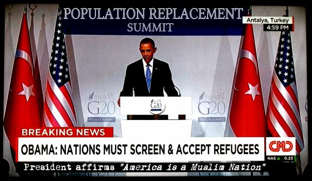 Obama Turkey-POPULATION REPLACEMENT
