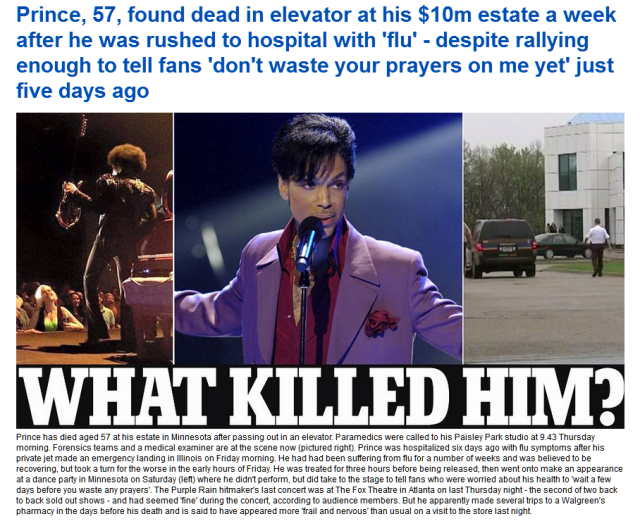 What killed Prince